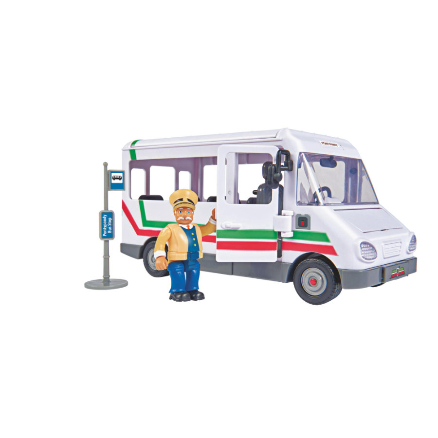Simba Fireman Sam - Trevorin linja-auto figuurilla