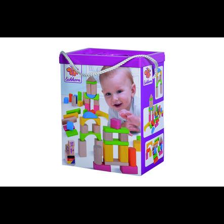 Eichhorn Jeu de briques enfant bois naturel/multicolore
