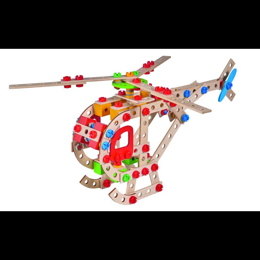 Eichhorn Jeu de construction hélicoptère, bois 225 pièces