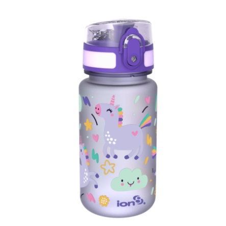 ion 8 auslaufsichere Kindertrinkflasche 350 ml Einhorn
