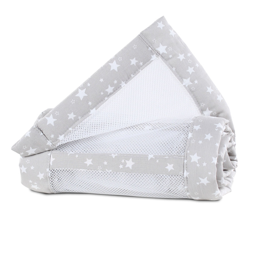 babybay ® Nestnettpiké Original perlegrå stjerner 149x25 cm