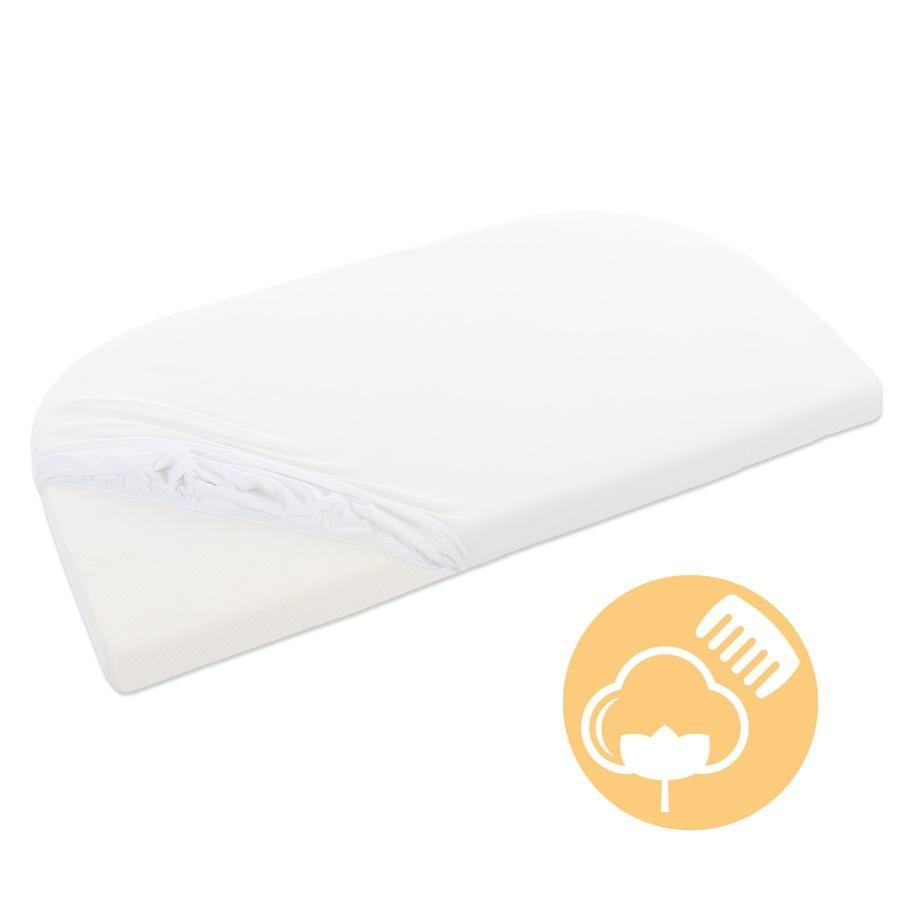 babybay® Spannbetttuch Jersey mit Membran weiß