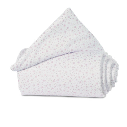 babybay ®rede Organic Cotton Midi / Mini glitter stjerner rosé 157x24 cm
