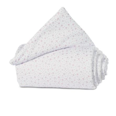 babybay ®Nestchen Organic Cotton Maxi, box spring, Comfort estrellas de brillo blanco rosa 157x24 cm
