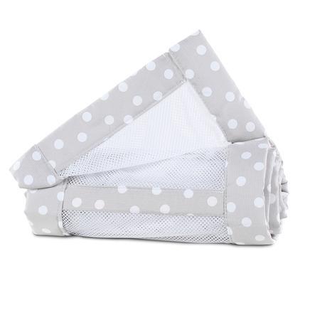 babybay ® Nest mesh piqué Maxi, boxová pružina a perleťově šedé tečky Comfort 168 x 24 cm