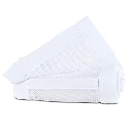 babybay ® Nest mesh piqué Maxi, boxfjäder och Comfort vit 149x25 cm