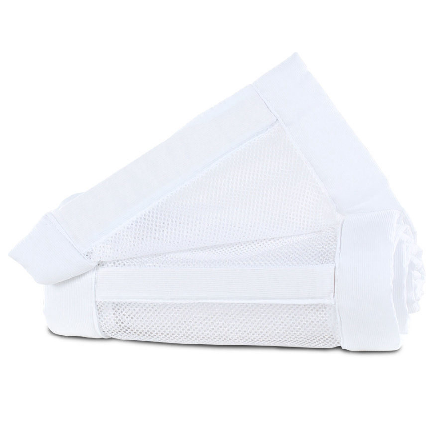 babybay® Reunapehmuste mesh piqué Maxi, laatikkojousi ja Comfort valkoinen 149x25 cm