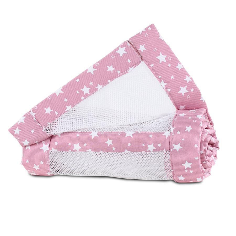 babybay ® Nido de malla piqué Maxi, box spring y Comfort estrellas de bayas blancas 168x24 cm