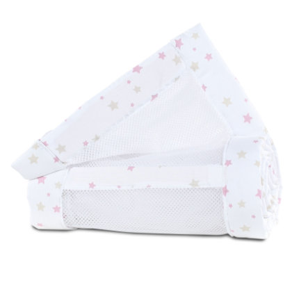 babybay® Nestje Mesh-Piqué Maxi, Boxspring en Comfort bessenrood sterrenmix 168x24 cm