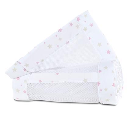 babybay® Ochraniacz do łóżeczka Mesh-Piqué Maxi, Boxspring i Comfort, berry stars 168x24 cm