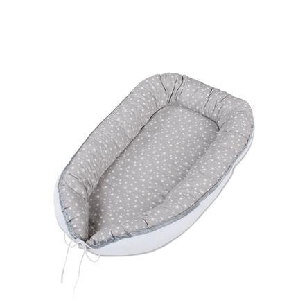 babybay® Nid pour bébé gris nacré étoiles blanc