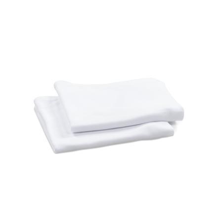babybay® Housse pour nid bébé blanc 77x32 cm lot de 2