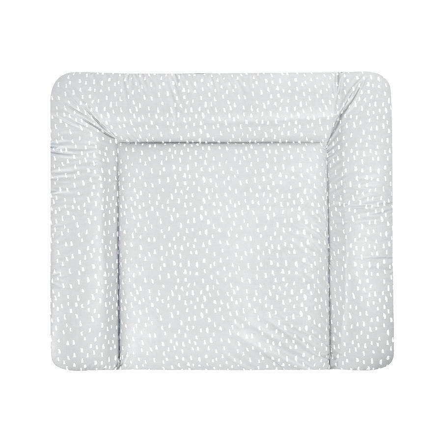 JULIUS ZÖLLNER Wickelauflage Softy Tiny Squares Grey 65 x 75 cm