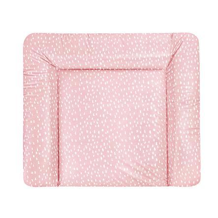 JULIUS ZÖLLNER Wickelauflage Softy Tiny Squares Blush 65 x 75 cm
