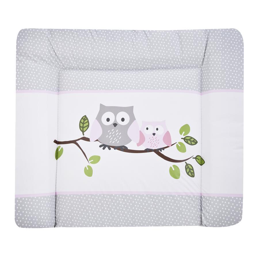 JULIUS ZÖLLNER Aankleedkussen Softy Kleine uilen roze 65 x 75 cm