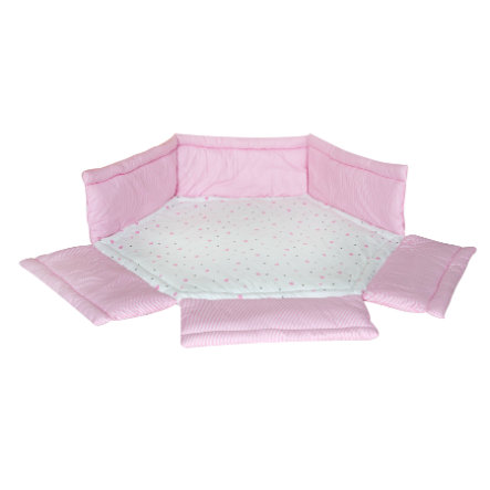 Schardt Boxkleed 6-hoekig hartjes roze