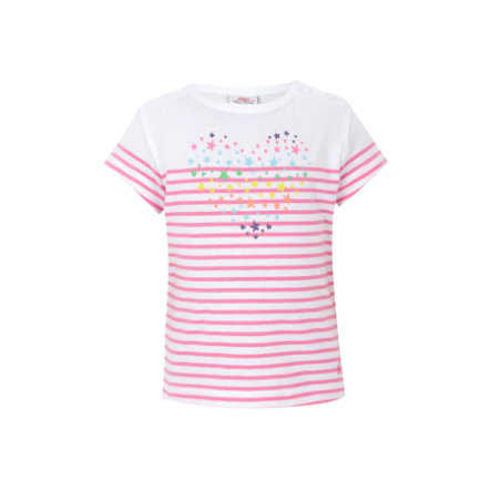 s.OLIVER Girls Mini T-shirt, rayures, blanc