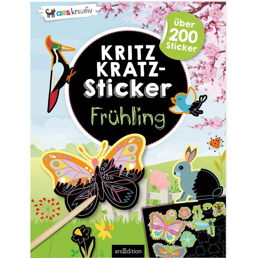 arsEdition Kritzkratz-Sticker Frühling