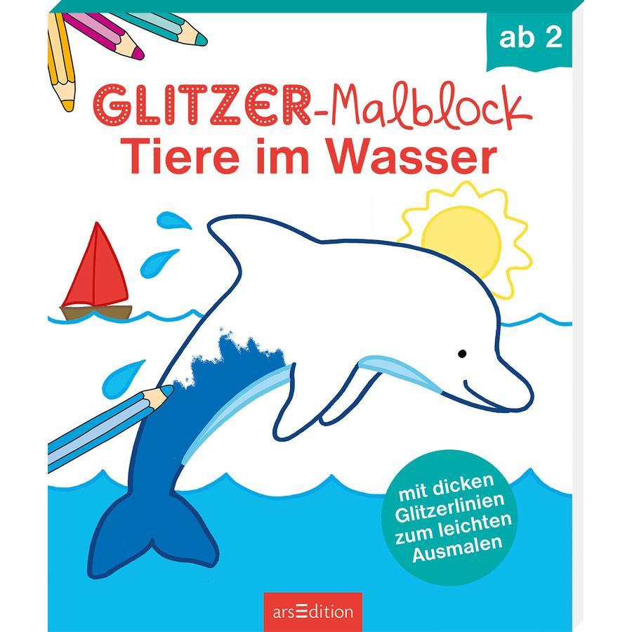 arsEdition Glitzer-Malblock - Tiere im Wasser