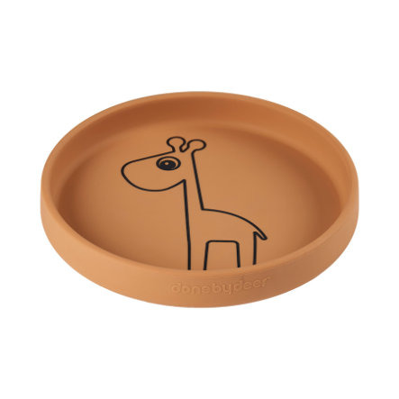 Done by Deer ™ Assiette enfant  6m+ Raffi moutarde silicone