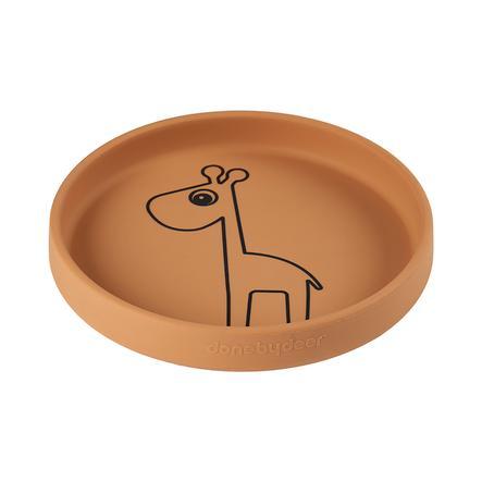 Done by Deer dětský talíř Raffi hořčicově žlutá od 6. měsíce
