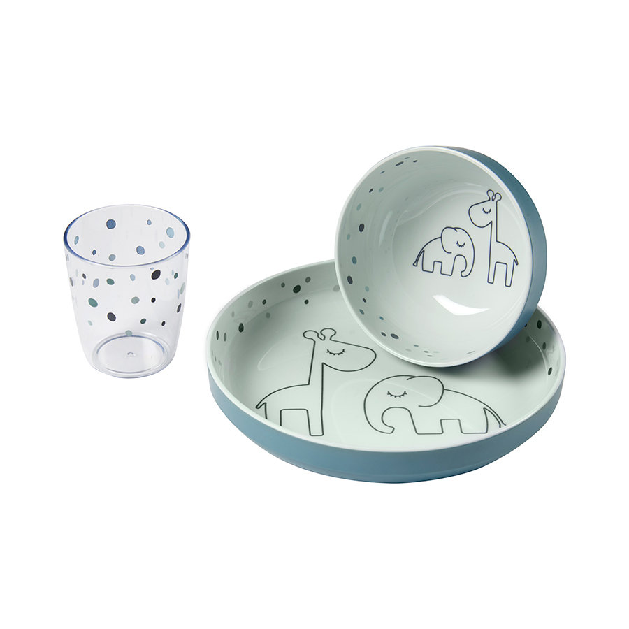 Done by Deer™ Dinner-Set Dreamy dots blau ab de 6. Monat 3-teilig