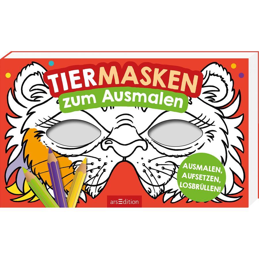 arsEdition Lustige Masken zum Ausmalen