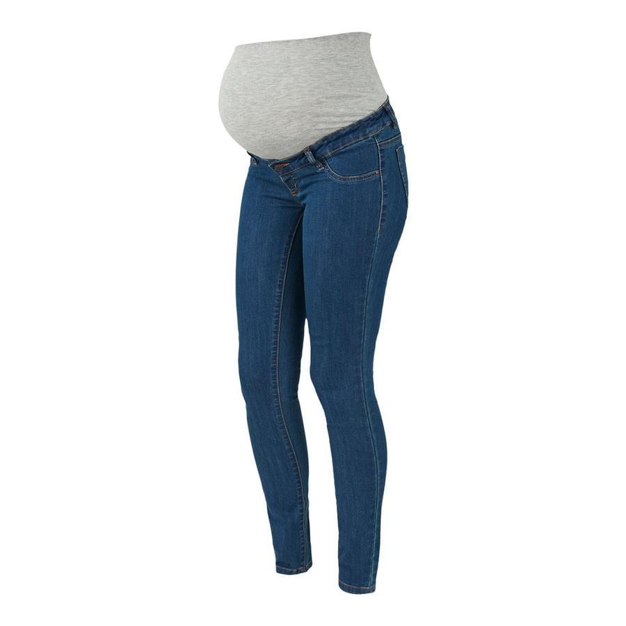 mamma läckra Moderkläder-jeans MLJULIA Medium Blue Denim