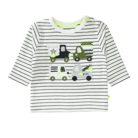 STACCATO Boys Shirt offwhite gestreift