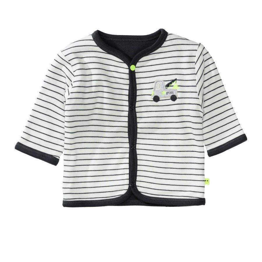 STACCATO Gutteres vendbar jakke i hvit stripete