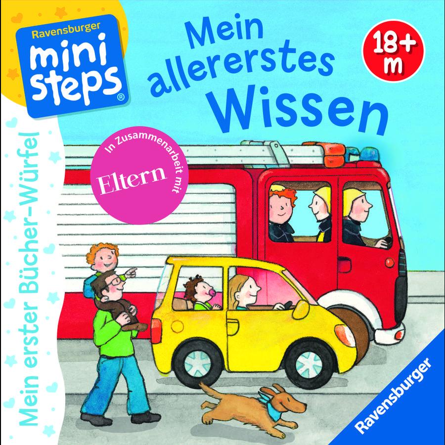 Ravensburger ministeps® Mein erster Bücherwürfel: Mein allererstes Wissen (Bücher-Set)