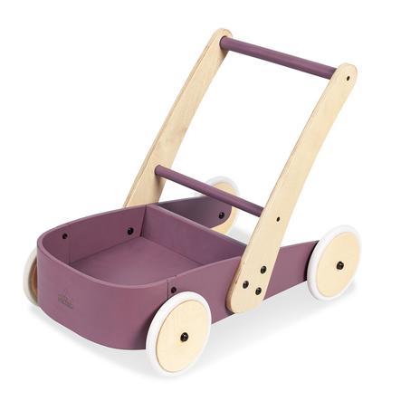 Pinolino Chariot enfant Fiete bois couleur mûre