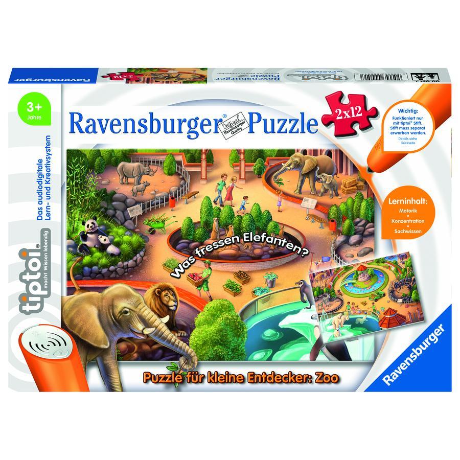 Ravensburger tiptoi® Puzzle for små oppdagere: Zoo