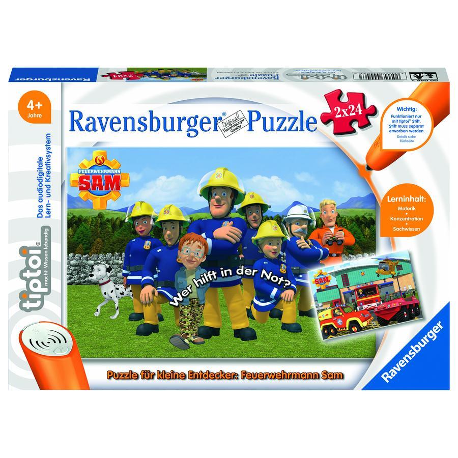 Ravensburger tiptoi® Puzzle für kleine Entdecker: Feuerwehrmann Sam