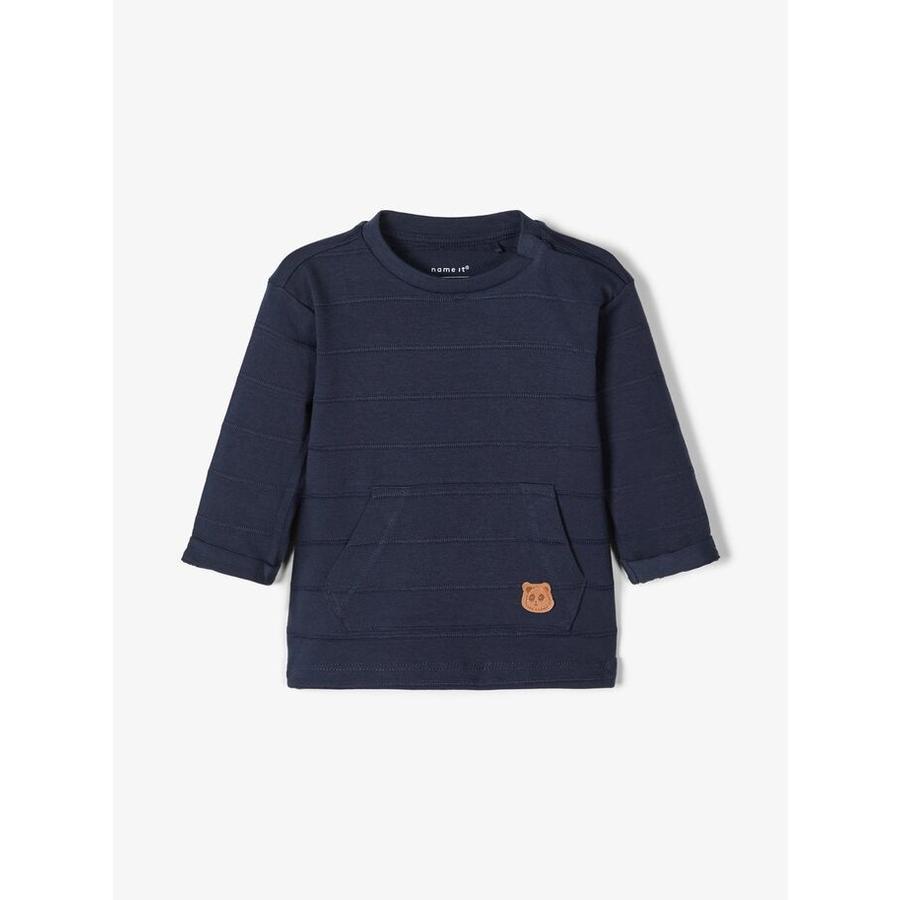 pojmenujte to Chlapecká košile s dlouhým rukávem nbmtipol tmavý safír