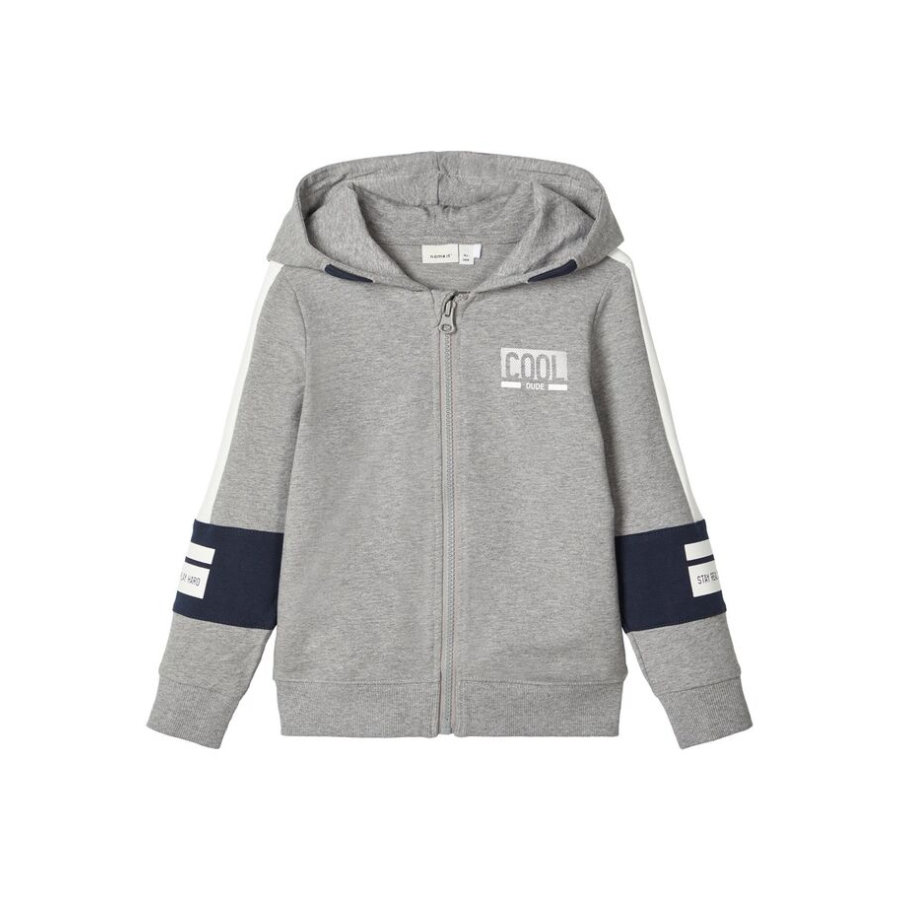 name it Sweatjacket pour garçons Nmmbosse gris mélangé