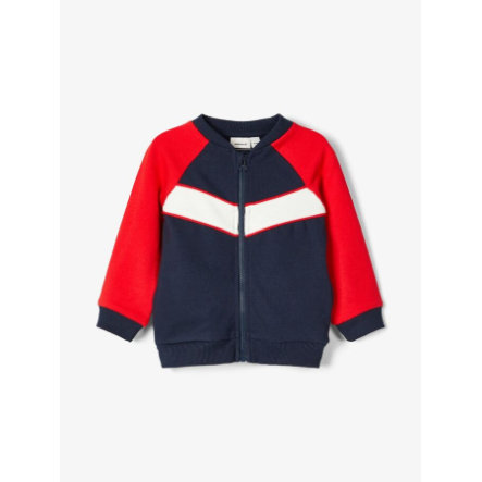 name it Jongens Sweatjacket Nbmtinan donker saffier