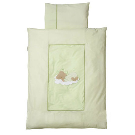Easy Baby Bettwäsche 100x135cm  Sleeping bear grün (410-84)