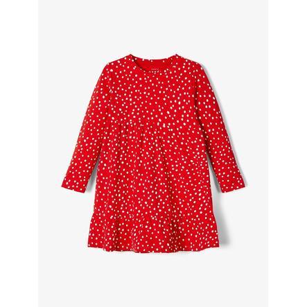 pojmenujte to Dívčí šaty Nmfvicky vysoce rizikové červené