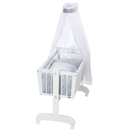 Alvi® Komplettpendelwiege Sina weiß Mosaik