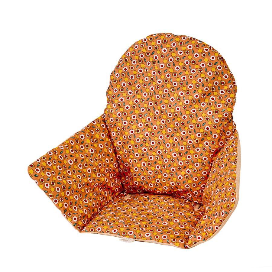Polini Kids Sitzkissen für Ikea Hochstuhl Antilop orange