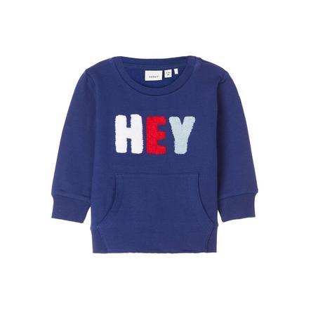 name it Jongens Sweatshirt NBMLEIF blauw dephts