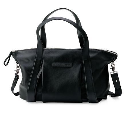 Storkbag + bugaboo Stelleveske i svart skinn