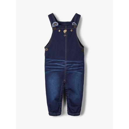 name it Boys Latzhose Jeans Romeo dark blue denim