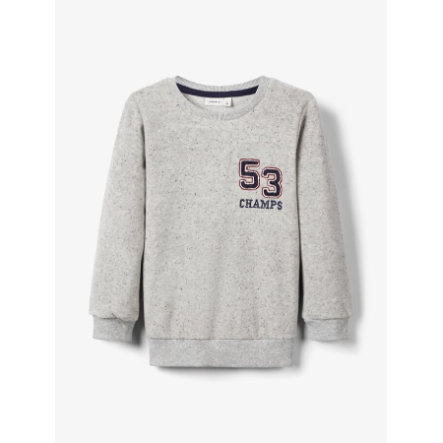 name it Sweatshirt pour garçons Okker gris melange