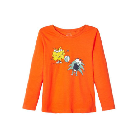 name it Camisa de manga larga de los chicos Vagno mandarín orange