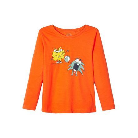 name it Ragazzi camicia manica lunga Vagno mandarino orange