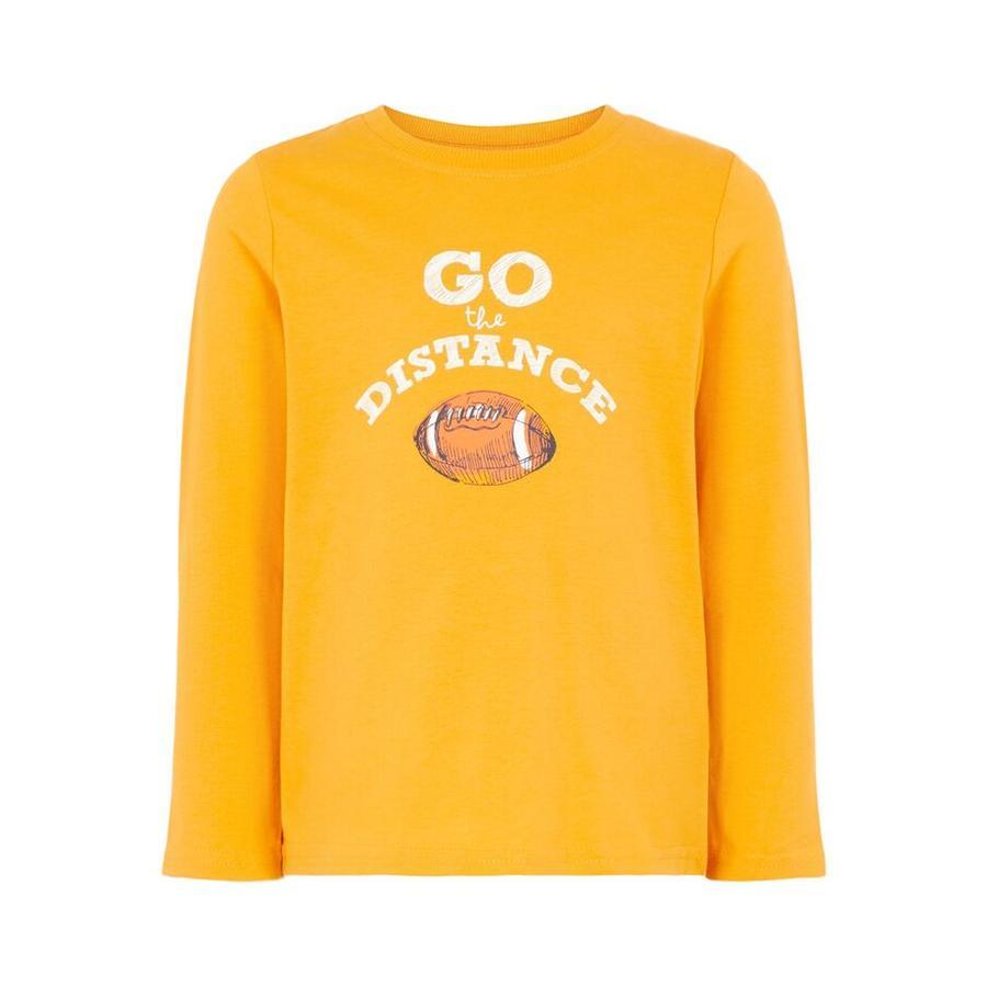jméno to Chlapecké tričko s dlouhým rukávem Vagno Victor zlatá oranžová