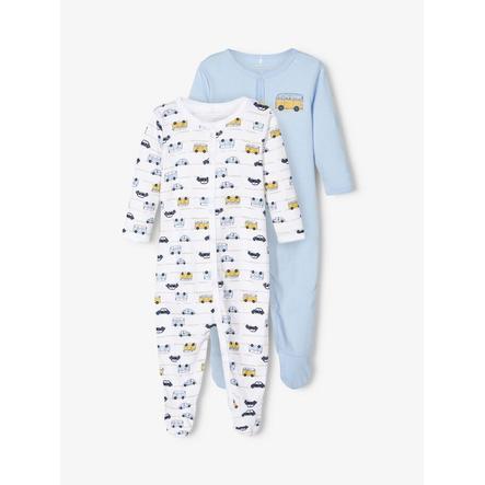 name it Pyjama enfant coton, cashmere blue, lot de 2