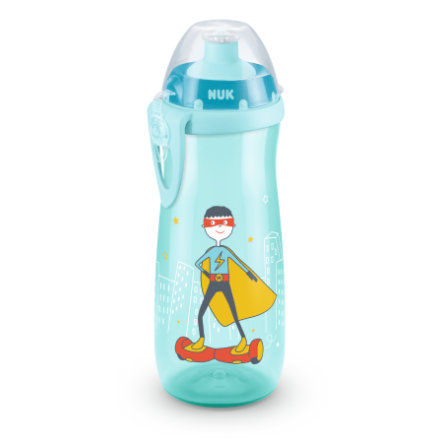 NUK drikkeflaske Sports Cup-motiv: Superhelt 450 ml med push-pull-tud